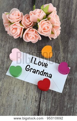 message of I love grandma