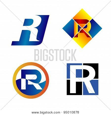 Alphabet Symbols And Elements Of Letter R, such a logo