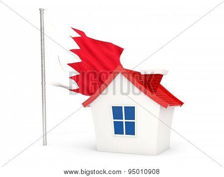 House With Flag Of Bahrain