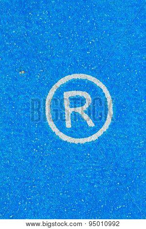 Close-up Registered Trademark Sign.