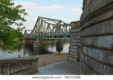 Glienicke Bridge And Wall