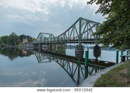 Mirrored Glienicke Bridge