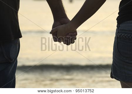 Young Girl Holding Hands