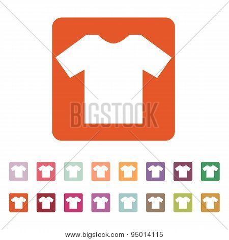 The Shirt Icon. T-shirt Symbol. Flat