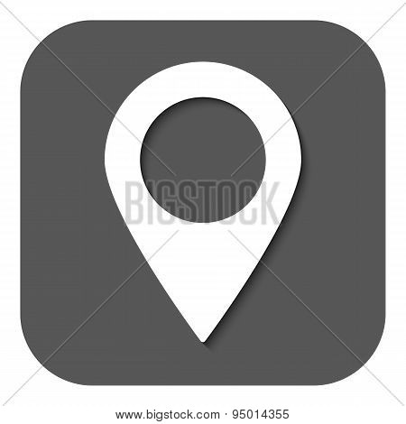 The Pointer Icon. Navigation And Location Symbol. Flat