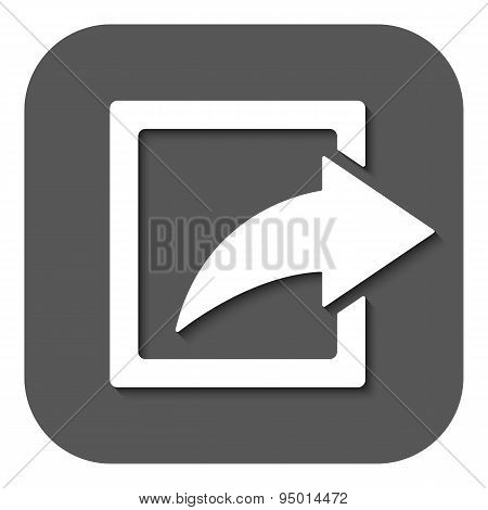 The Share Icon. Action Symbol. Flat