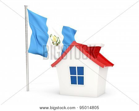 House With Flag Of Guatemala