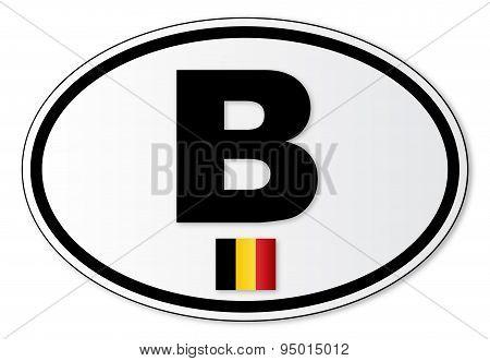 Belgium B Plate