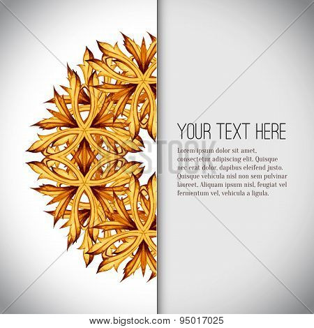 Vintage background in Eastern style. Vector background.