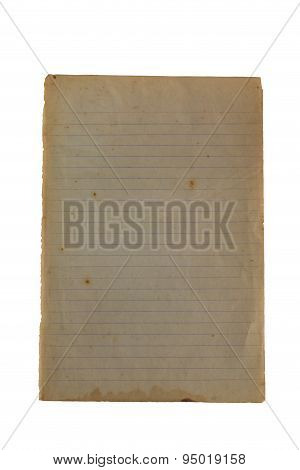 Old Memo Paper To Reveal Yellowing, Blank, Lined