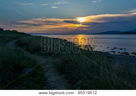Sunset in Klenovica