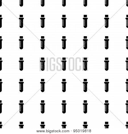 Test Tube Seamless Pattern. Vector