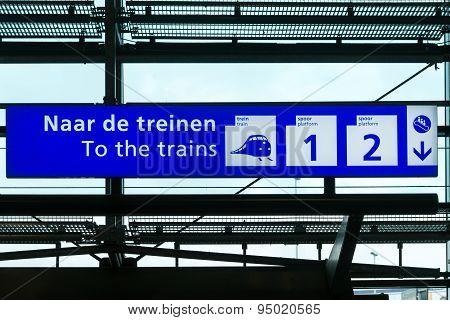 Schiphol sign