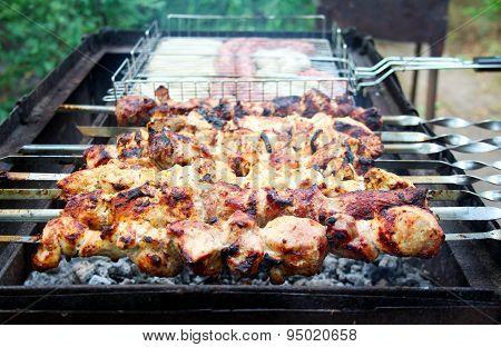 Meat On Skewers