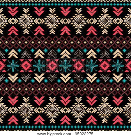 Tribal Vintage Ethnic Seamless Pattern . Vector Background .