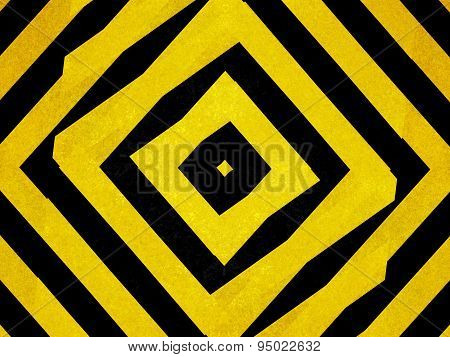 Black And Yellow Striped Diamond Shapes