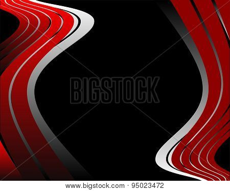 Abstrack wave red and black background