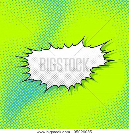 Abstract Pop-art Style Explosion Steam Cloud