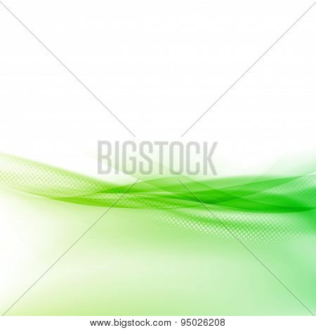 Ecology Modern Green Swoosh Wave Border