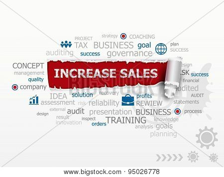 Increase Sales Concept Word Cloud.