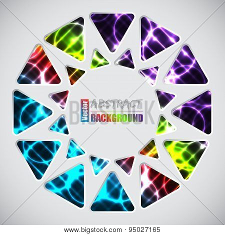 Abstract Background With Triangles And Plasma Background