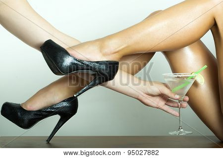 Bare Legs And Cocktail