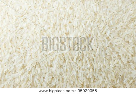 Background Of White Long Rice Or Thai Jasmine Rice