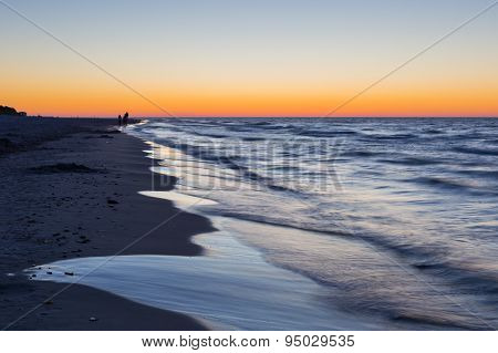 Baltic Sea Shore After Sunset