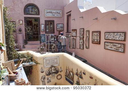 Small Shops With Souvenirs For Tourists