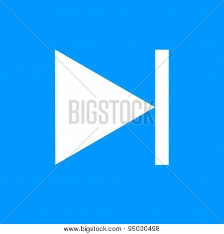 Glossy Multimedia Icon  Next Track