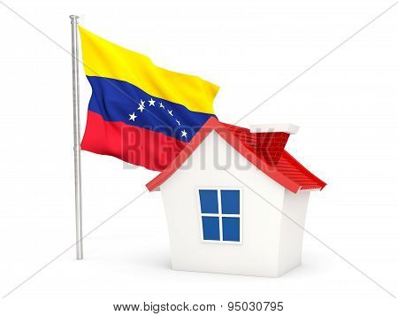 House With Flag Of Venezuela