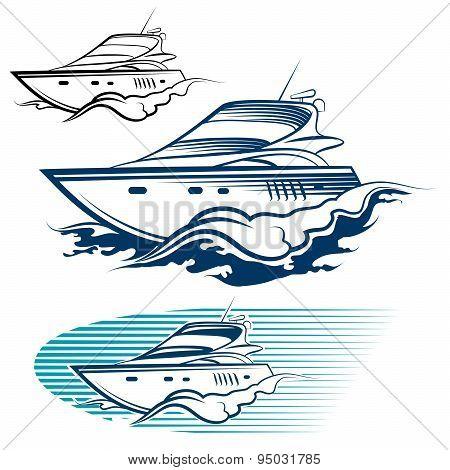 Yacht Emblem set
