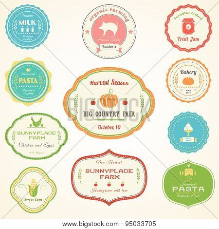 Farm and Homemade Products Vintage Labels