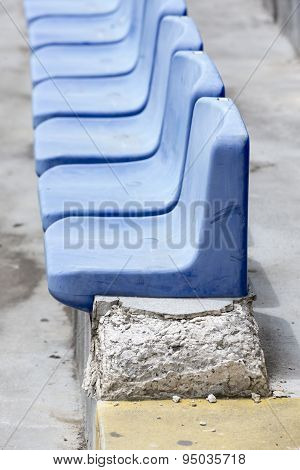 Old Blue Stadium Seats