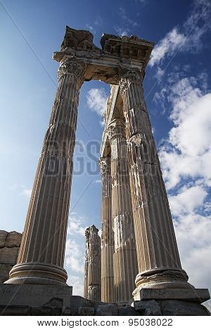 Photograph of the Temple of Trajan located in Turkey