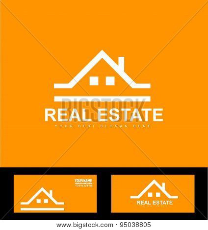 Orange Real Estate Company Logo Icon