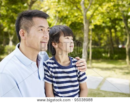 Asian Father And Son