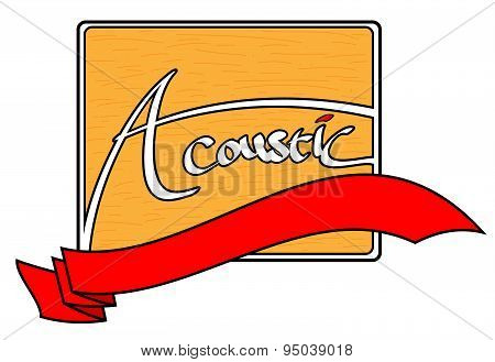 Acoustic logo with banner