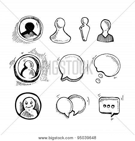 Web Chat Icons