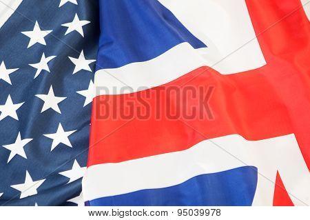 national flag of the United Kingdom UK and USA