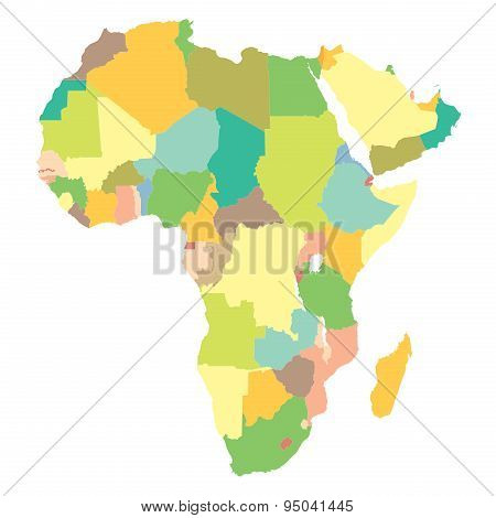 Political Map Africa