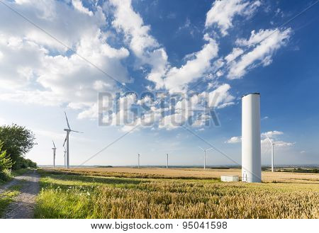 Collapsed Wind Turbine In Wind Park