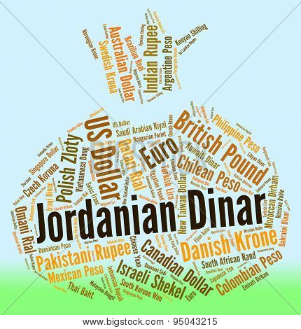 Jordanian Dinar Shows Worldwide Trading And Broker