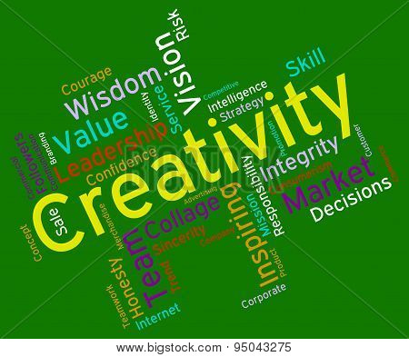 Creativity Words Means Vision Design And Conception