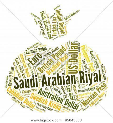 Saudi Arabian Riyal Indicates Forex Trading And Coinage