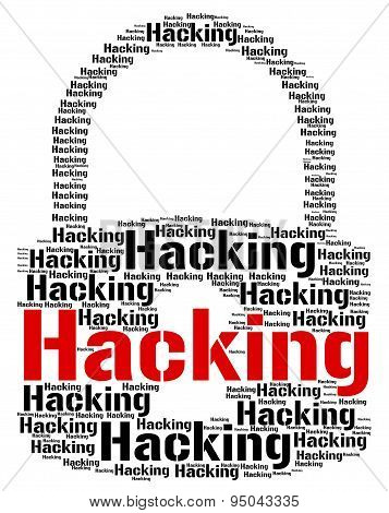 Hacking Lock Represents Vulnerable Wordcloud And Crack