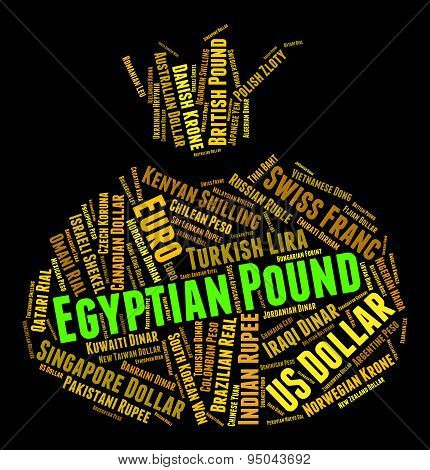 Egyptian Pound Shows Worldwide Trading And Coin