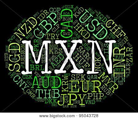 Mxn Currency Means Forex Trading And Banknote