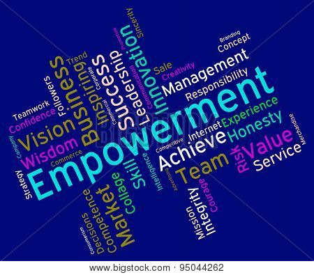 Empowerment Words Means Urge To And Boost