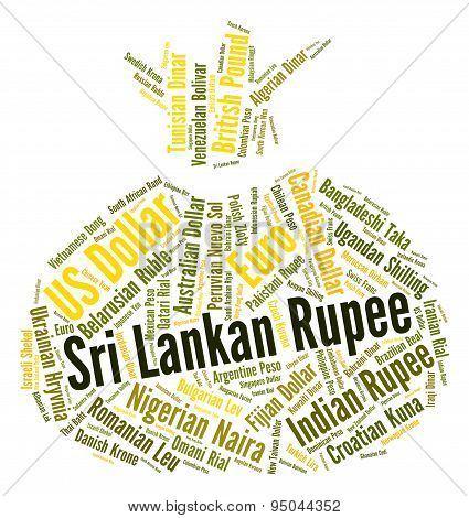 Sri Lankan Rupee Indicates Forex Trading And Coin